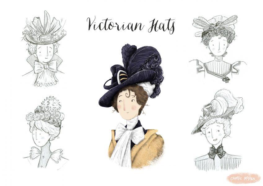 Victorian Hats - Study