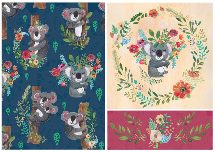 koala characters for stationery products