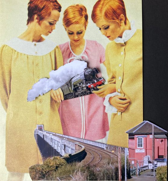 Twiggy train collage