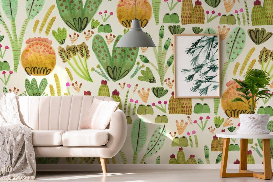 Succulents Garden Wallpaper