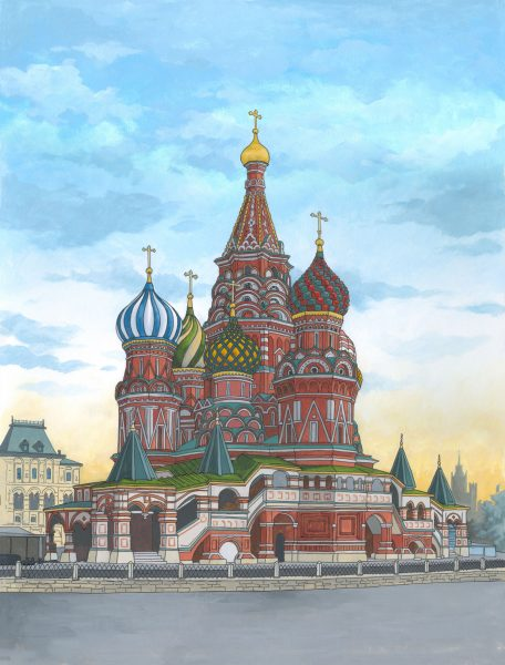 St-Basils-Cathedral-Moscow-original-painting-by-Jonathan-Chapman