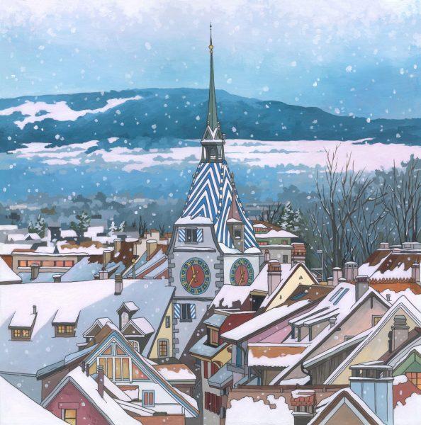 Zytturm-Snowfall-by-Jonathan-Chapman