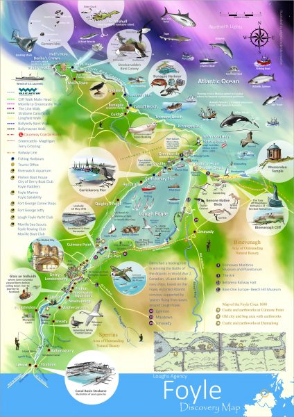 Loughs Agency Foyle Discovery Illustrated Map