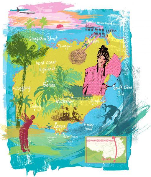 Hainan map