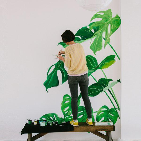 Yoga Studio Mural