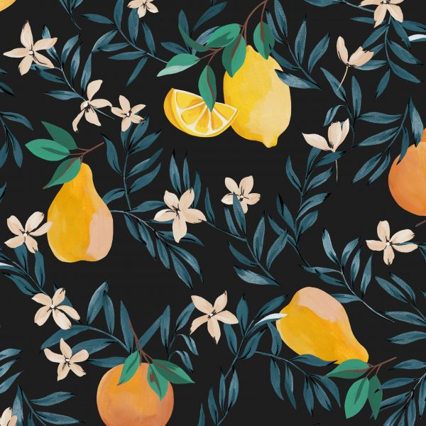 Vicomte-A Fashion Brand - Lemon Pear and Orange Print