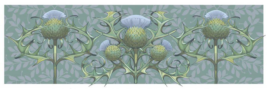 Thistles pattern