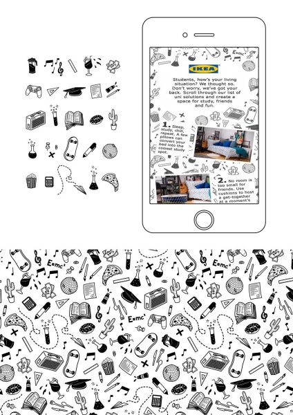 Ikea Mobile Ad Campaign Pattern