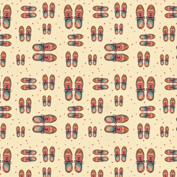 vintage shoes  pattern