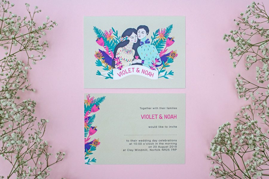 Wedding stationery: Bride and Groom