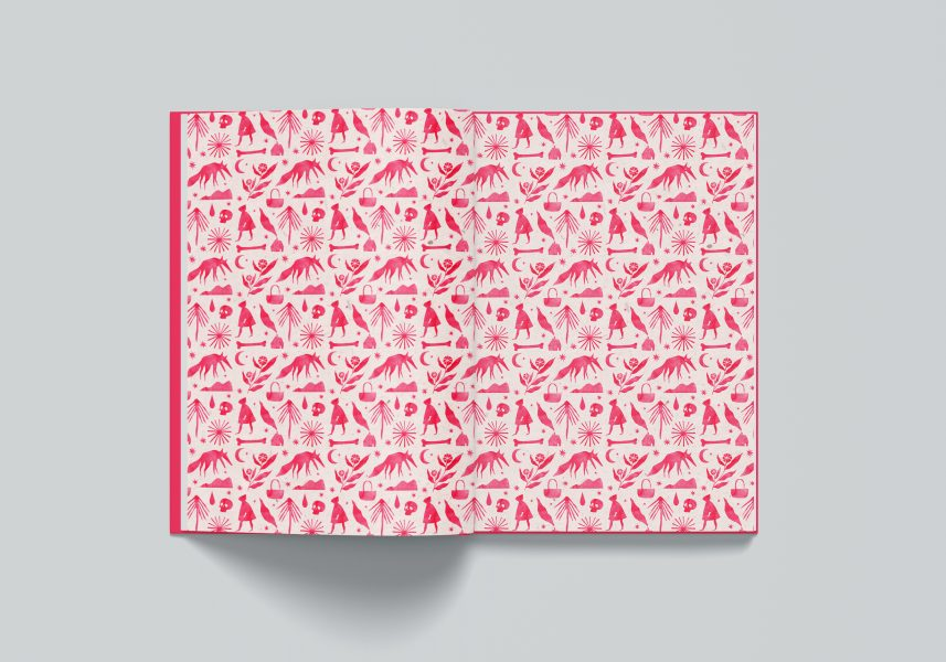 Little Red Riding Hood endpapers