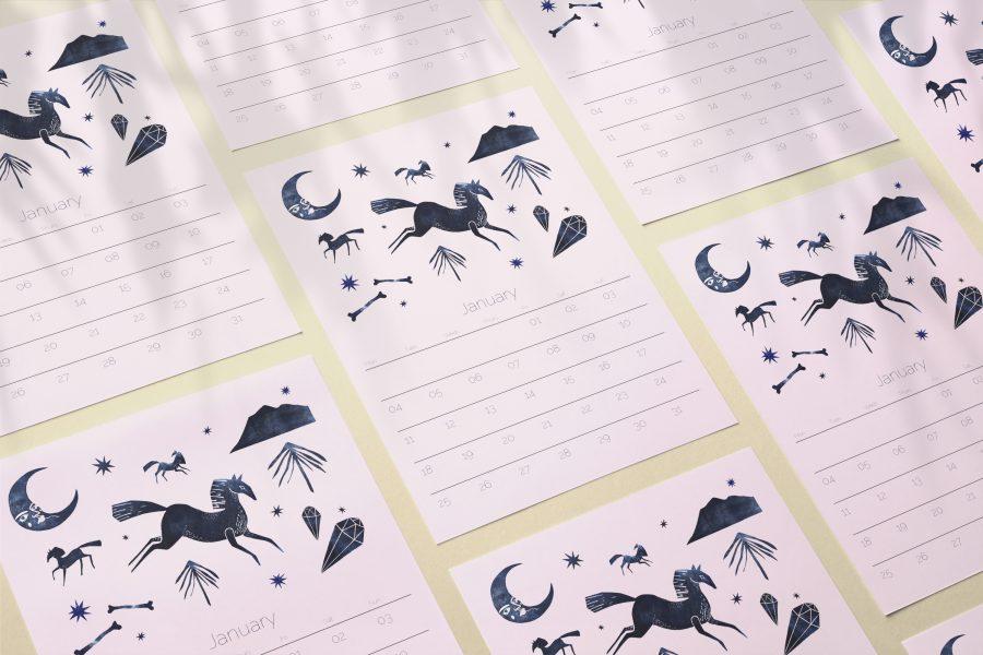 Folk + Fauna 2021 Calendar