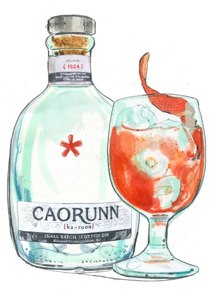 Caroon Gin and Negroni
