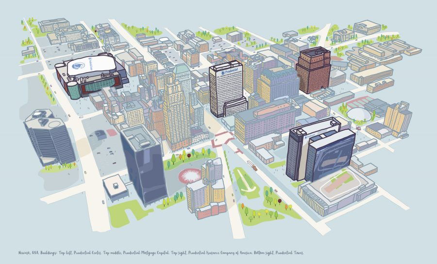 Prudential Newark Map