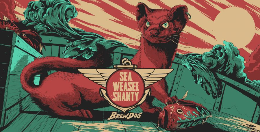 Sea Weasel Shanty Beer Can Design / BrewDog