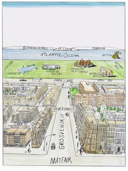 Mayfair Guide Saul Steinburg Pastiche