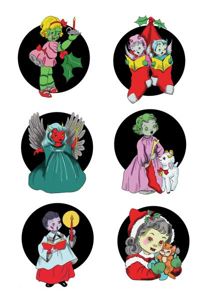Creepy Christmas A3