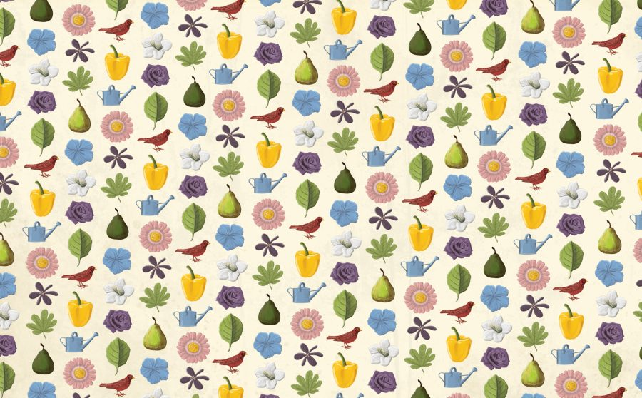 Flora Endpapers
