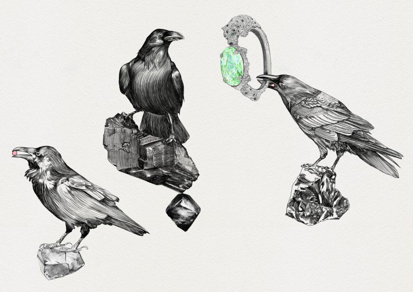 Levitating Ravens / Cartier Panther Bracelet