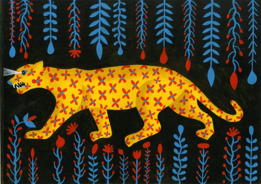 Tiger Through Black