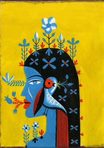 Woman With Bird 2