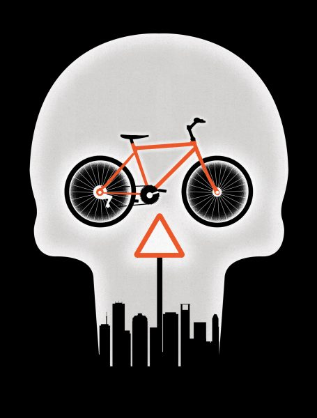 City Cycling Danger / Houstonia Magazine