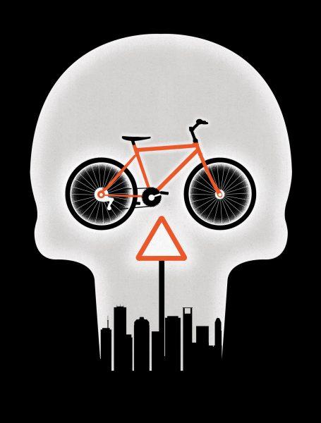 City Cycling Danger / Houstonia Magazine