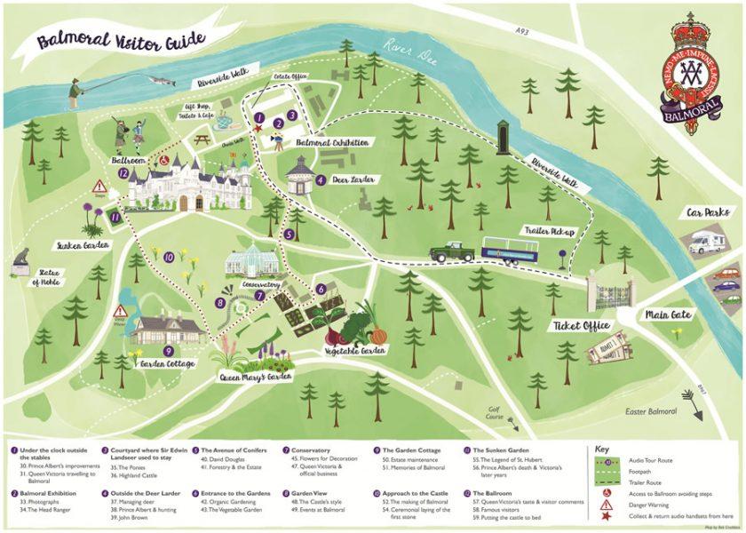 Visitor Maps - Balmoral Estate