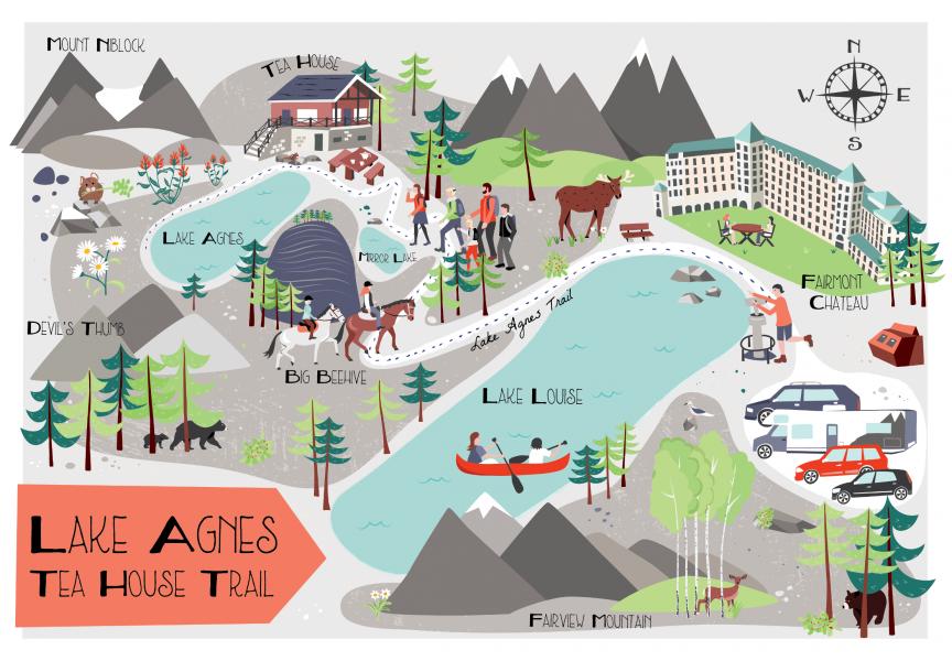 Lake Agnes Tea House Trail Map