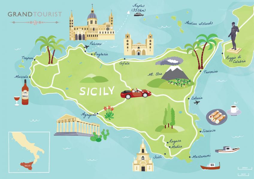 Sicily map