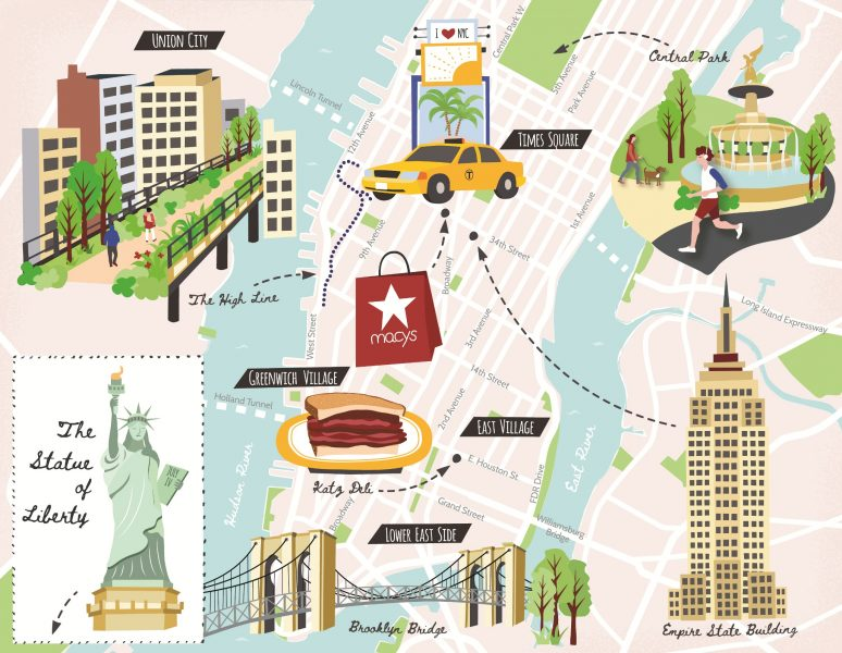 Illustrated Map of New York City