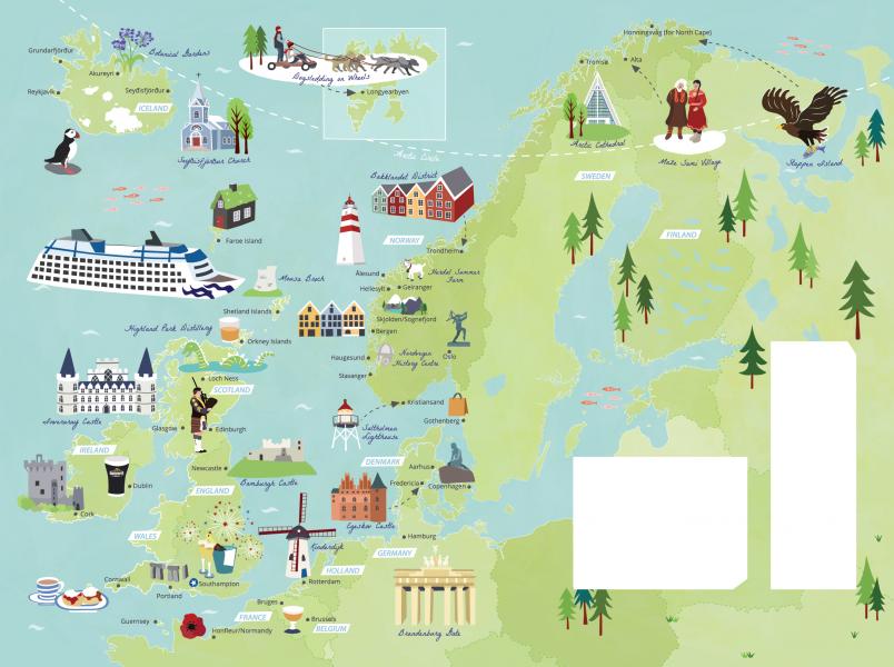 Island Princess Route Maps