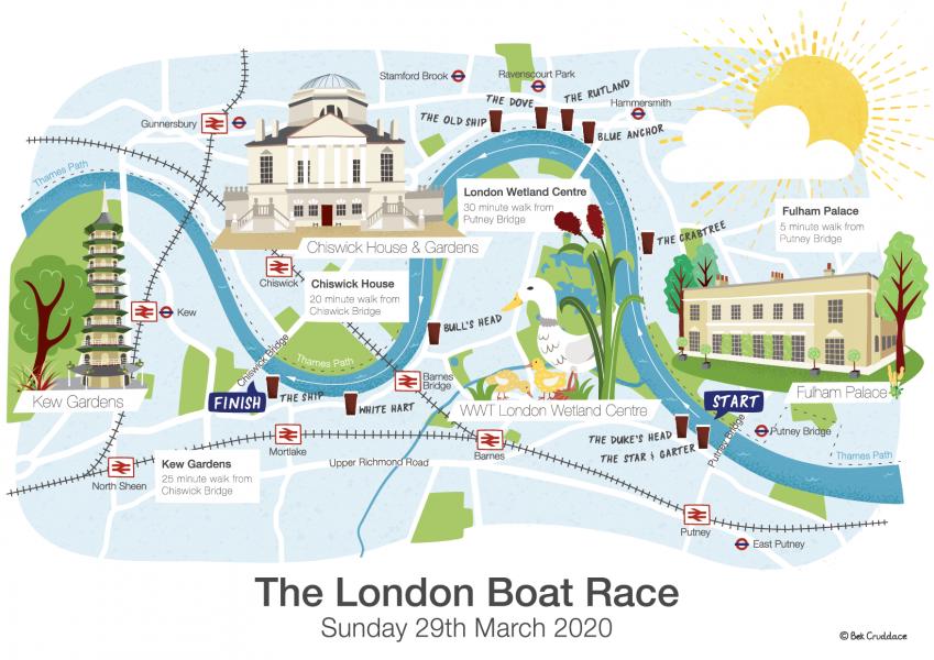 London-Boat-Race-map