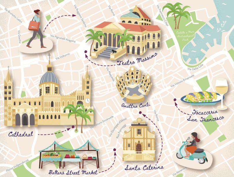 Palermo Tourist Map