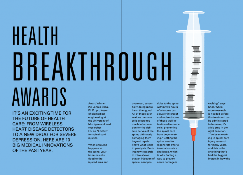 Prevention Magazine - An 'EpiPen' for Spinal Cord Injuries