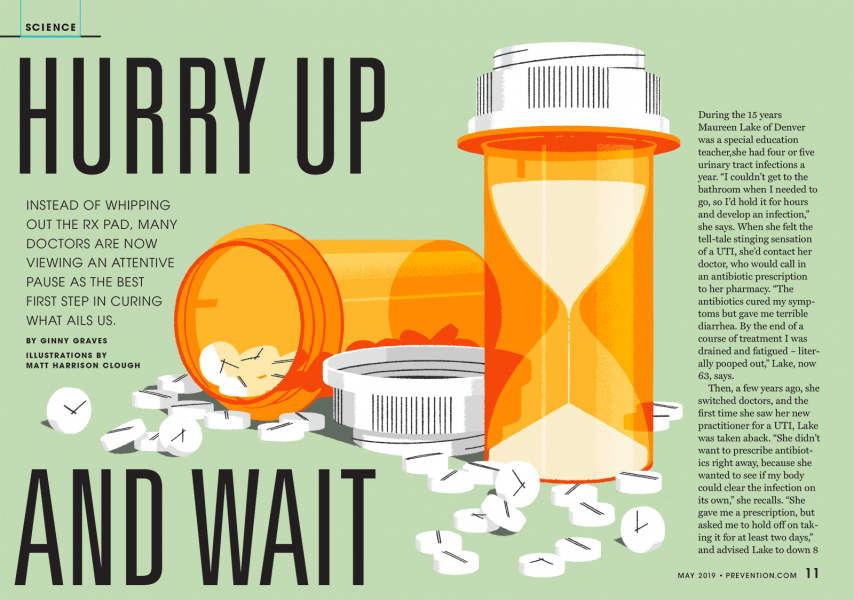 Prevention Magazine - Hurry Up and Wait