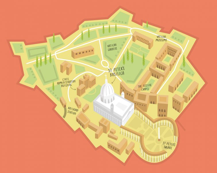 3D map of Vatican City