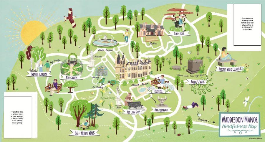 Waddesdon Manor NT Mindfulness Visitor Folding Map