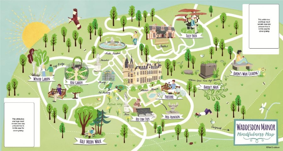 Waddesdon Manor NT Mindfulness Visitor Folding Map