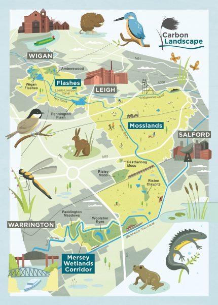 Wildlife Trust Carbon Landscape Map