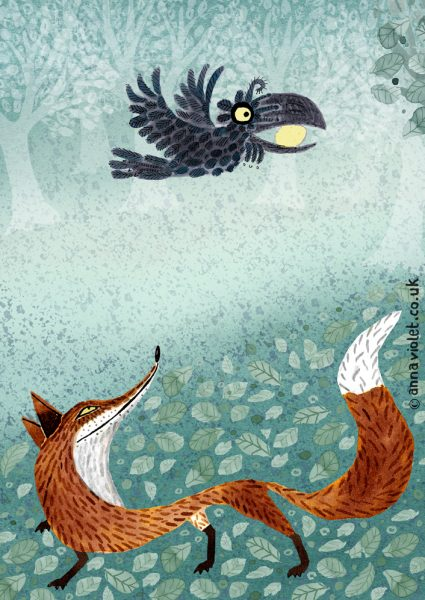 Fox Crow and Cheese (Aesops Fables)