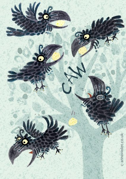Crow Character Studies (Aesops Fables)