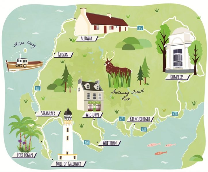 Dumfries and Galloway Road trip Maps