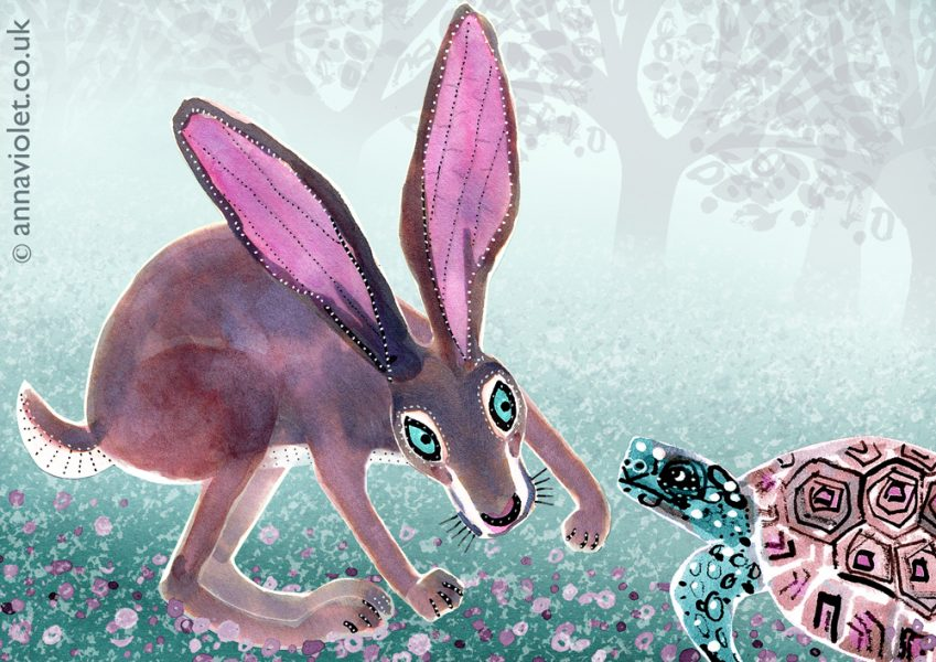 Hare and Tortoise (Aesops Fables)