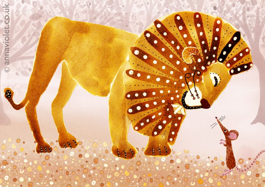 Lion and Mouse (Aesops Fable)