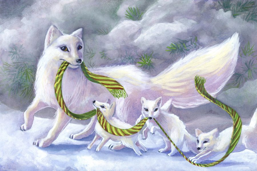 Winter Fox Family Outing