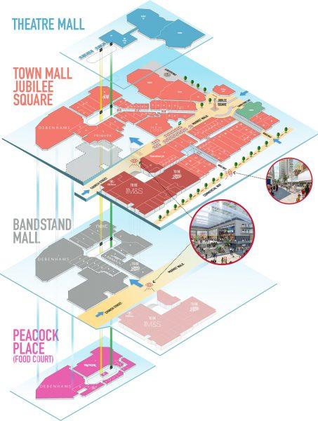 Woking Shopping Centre map