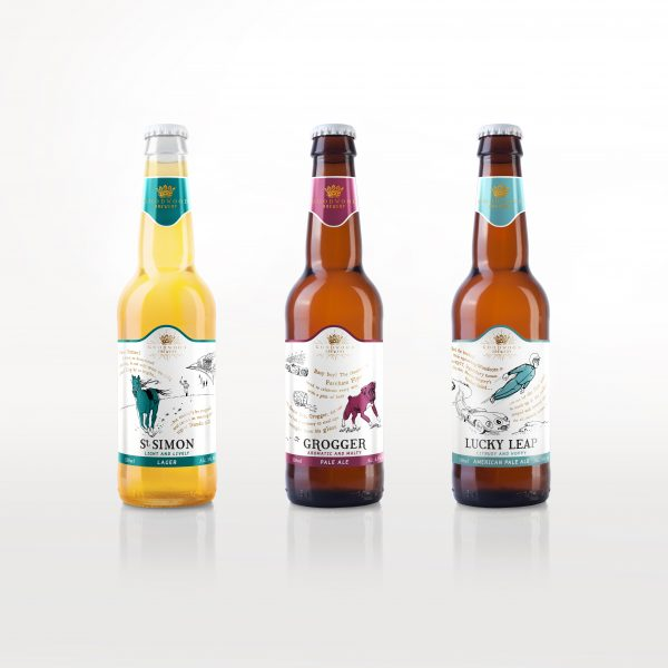 Beer labels designed by Stag&Hare for Goodwood