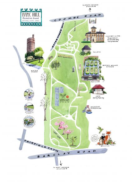 Park Hill Park illustrated map