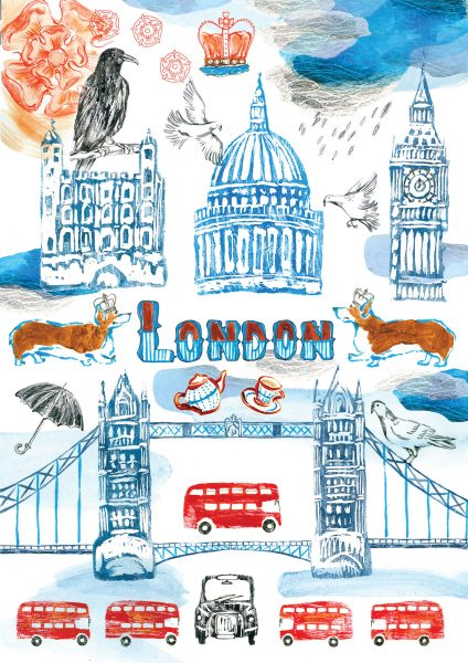 London illustration sharon farrow